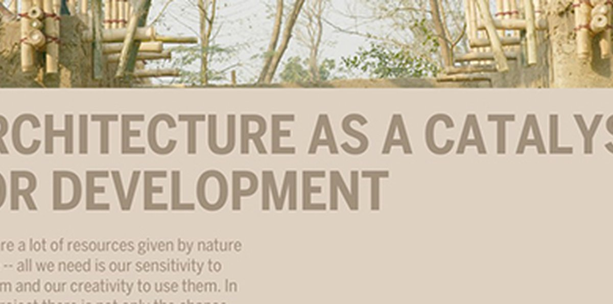 LECTURE: Architecture as a Catalyst for Development